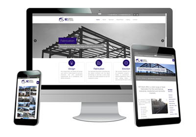 KR Steel Web Design and developent - responive website
