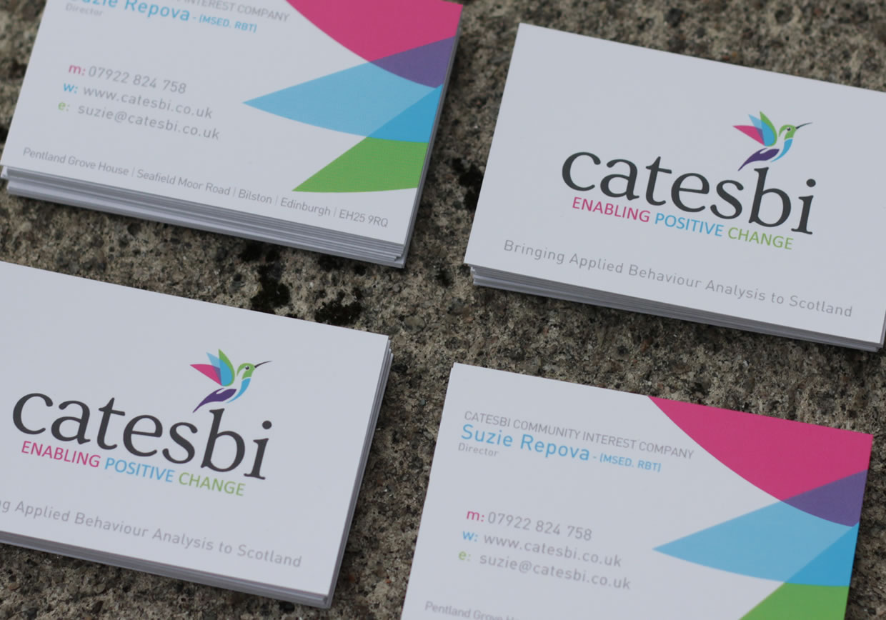 Catesbi logo design and stationery from the personal angle diane is a pleasure to work with and i have no hesitation in recommending luminet to anyone looking for branding that will colourmoves